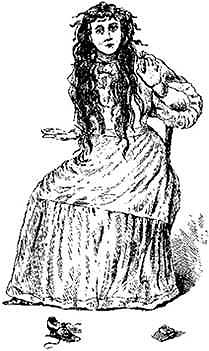 An artist's drawing of Betsy Bell, done around 1894.