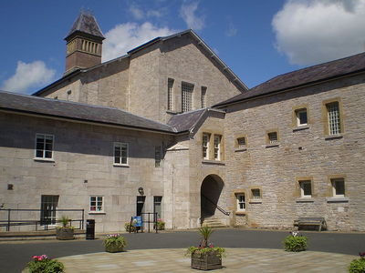 The Haunted Ruthin Gaol Courtyard