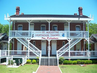 St. Augustine Lighthouse: Front of the old Keeper's Quarters
